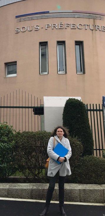 Claire Le Roy à la sous-préfecture de Brest